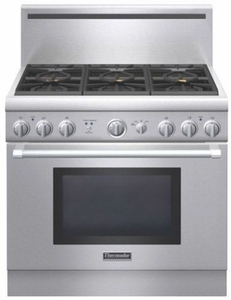 """PRG366GH Thermador 36"""" Pro Harmony Gas Pro Style Range with 6 Burners - Stainless Steel"""