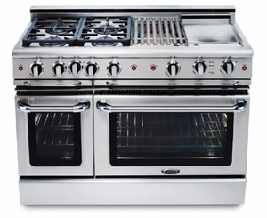 "GSCR484GL Capital 48"" Precision Pro Style Gas Convection Range 4 Burners & Wide Griddle - Liquid Propane  - Stainless Steel"