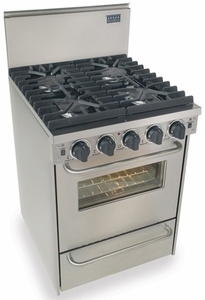 "TPN491-7BW Five Star 24"" Pro Style Liquid Propane Convection Range - Sealed Burner - Stainless Steel"