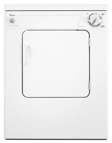 LER3622PQ Whirlpool 3 Cycle Compact Electric Dryer - White