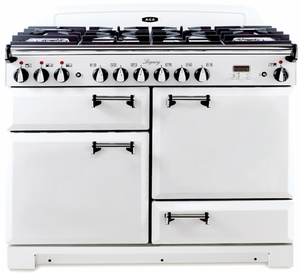 "ALEBS44DFVWT AGA 44"" Legacy Dual Fuel Range with Convection Oven- White"