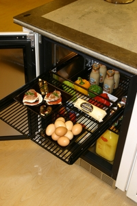 """HC24RB34L Perlick 24"""" Commercial Series Built-in Refrigerator with Integrated Wood Glass Overlay Door - Left Hinge"""