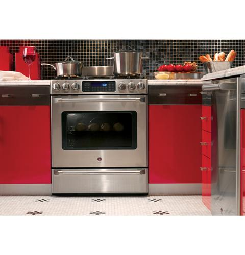 Cgs985setss Ge Cafe 30 Quot Free Standing Range With Baking