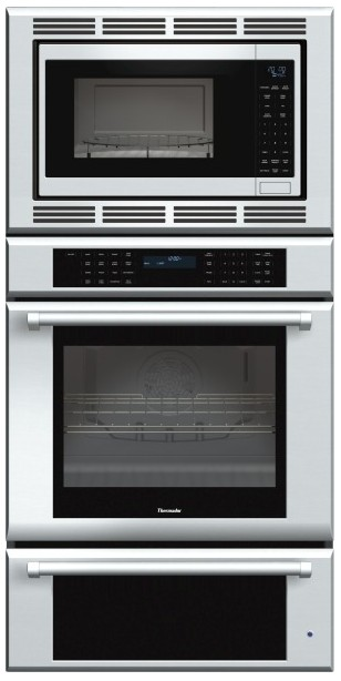 MEDMCW31JP Thermador 30 inch Masterpiece Series Triple Oven (Oven, Convection Microwave and Warming Drawer) with Professional Handle - Stainless Steel