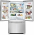 """FGHG2366PF 36"""" Frigidaire Gallery 22.6 Cu. Ft. French Door Counter Depth Refrigerator - Smudge-Proof Stainless Steel"""