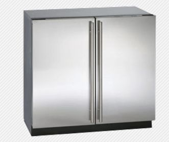 """3036RRS-00 U-Line 3000 Series 36"""" Undercounter Dual Zone Convection Cooling System Refrigerator - Stainless Steel"""