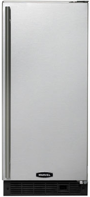 "30iMAT-BS-F-R Marvel 15"" ADA Height Ice Machine - Black Cabinet, Stainless Steel Door - Right Hinge"