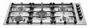 "Q36500X Bertazzoni Professional Series 36"" 5-Burner Low-Profile Cooktop - Stainless Steel"