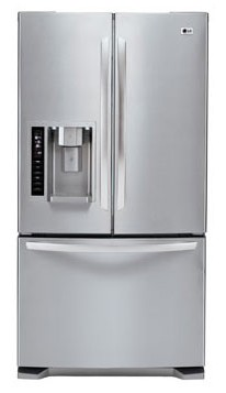 lg refrigerator with ice maker. lfx25973st lg large-capacity 3 door french refrigerator with dual ice makers - stainless steel lg maker i
