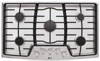"LCG3611ST LG 36"" Gas Cooktop with SuperBoil - Stainless Steel"