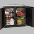 """3036RROL-00 U-Line 3000 Series 36"""" Undercounter Dual Zone Convection Cooling System Refrigerator - Overlay Frame"""