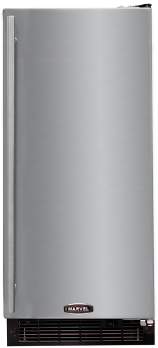"""30iMT-BB-O-R-P Marvel 15"""" Indoor Clear Ice Machine with Factory-Installed Pump - Black Cabinet, Overlay Panel - Right Hinge"""