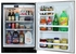 """6ARM-BS-F-R Marvel 24"""" Undercounter Refrigerator - Black Cabinet, Solid Door, No Lock - Right Hinge - Stainless Steel"""