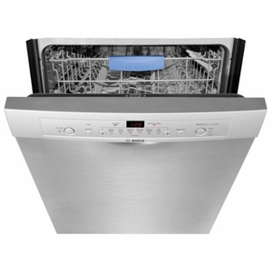 "SHE3AR75UC Bosch Ascenta Series 24"" Recessed Handle Dishwasher - Stainless Steel"