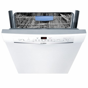 """SHE3AR72UC Bosch Ascenta Series 24"""" Recessed Handle Dishwasher - White"""