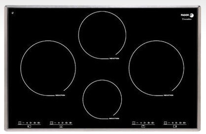 "IFA-80AL Fagor 30"" Induction Cooktop - Black with Stainless Trim"