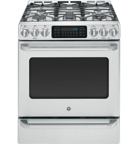 """CGS985SETSS GE Cafe 30"""" Free Standing Range with Baking Drawer - Stainless Steel"""