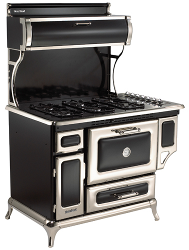 "720000GBLK Heartland 48"" Classic Gas Range- Natural Gas - Black"