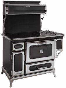"6210CD0BLK Heartland 48"" Range with 6 Burner Glass Cooktop and Self-Cleaning Convection Oven - Electric - Black"