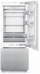"""T30IB800SP Thermador Freedom 30"""" Built-In Bottom-Freezer Refrigerator - Custom Panel - Clearance"""