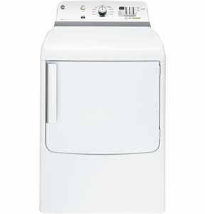 GTDL740GDWW GE 7.8 cu. ft. Capacity Gas Dryer with 150 ft. Long Venting - White