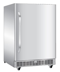 "DOAR154SSST Danby Silhouette 24"" Large Capacity 5.4 Cu. Ft. Outdoor Rated All Refrigerator - Stainless Steel"