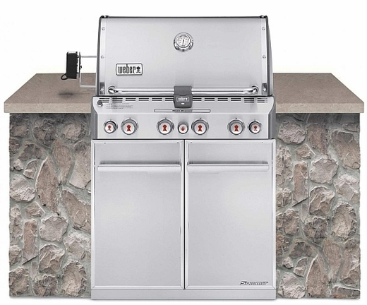 7260001 Weber Summit S-460 Outdoor Gas Grill - Natural Gas - Stainless Steel