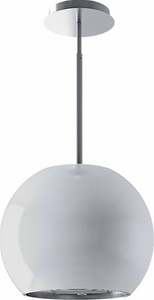 IM42I50B Best Sorpresa Collection Sphera Ceiling Recirculating Mounted Island Hood with 250 CFM and - White