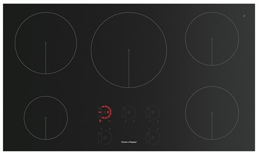 "CI365DTB1 Fisher & Paykel 36"" 5-Zone Induction Cooktop - Black Glass"