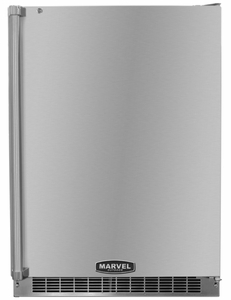 """6AROM-SS-B-LR Marvel 24"""" Outdoor Undercounter Refrigerator - Stainless Steel Cabinet and Door - Right Hinge"""