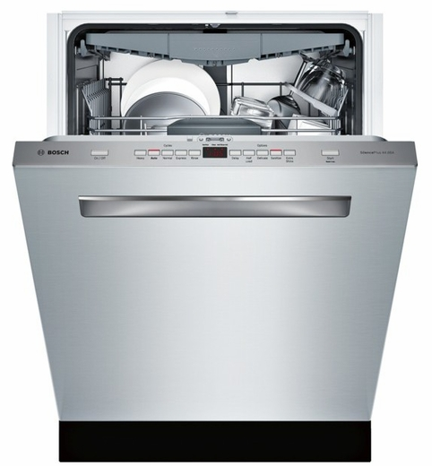 """SHP65T55UC Bosch 500 Series 24"""" Flush Handle Dishwasher - Stainless Steel"""