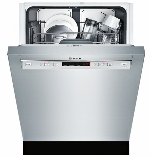 """SHE53T55UC Bosch 300 Series 24"""" Recessed Handle Dishwasher - Stainless Steel"""