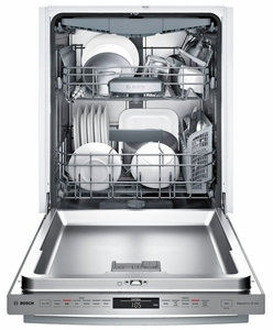 "SHX68T55UC Bosch 800 Series 24"" Bar Handle Dishwasher with 3rd Rack- Stainless Steel"