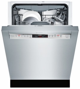 """SHE68T55UC Bosch 800 Series 24"""" Recessed Handle Dishwasher - Stainless Steel"""
