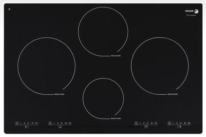 """IFA-80BF Fagor 30"""" Induction Cooktop with Beveled Front - Black with Stainless Trim"""