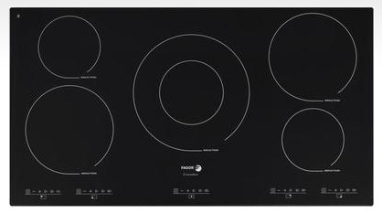"IFA-90BF Fagor 36"" Induction Cooktop with Beveled Front - Black"