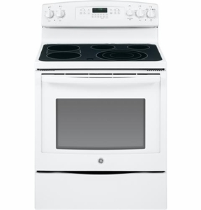 "JB750DFWW GE 30"" Free-Standing Electric Convection Range - White"