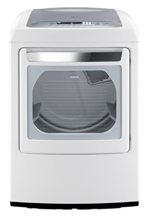 DLGY1202W LG 7.3 cu. ft. Ultra Large Capacity Gas Dryer with Front Control Design and SteamFresh Cycle - White