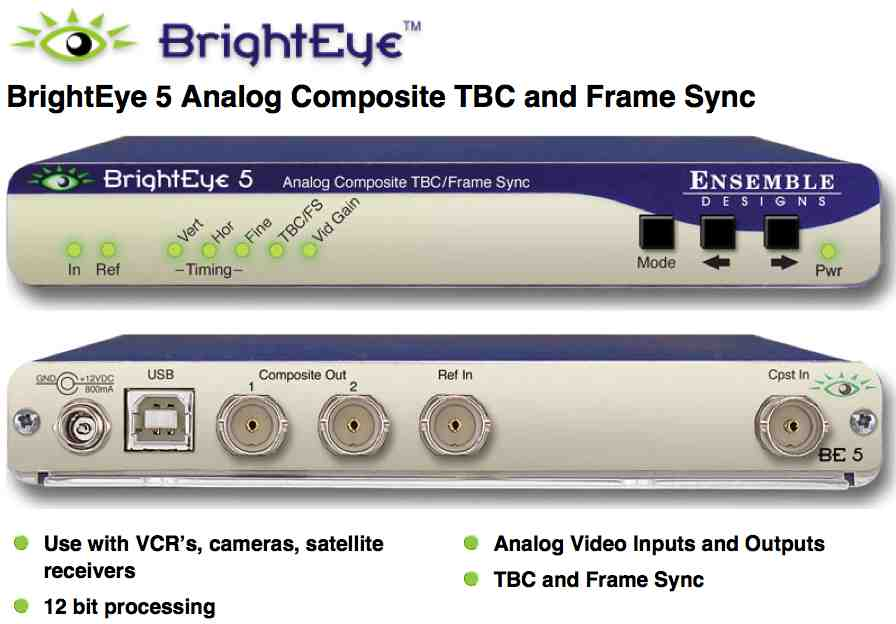 BrightEye 5 Analog Composite TBC/Frame Sync