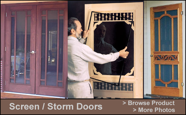 Front Porch Designs   Parts For Front Porches   Wooden Screen Doors