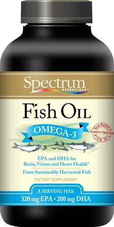 Spectrum essentials fish oil 1000mg 250 softgels vitaglo for Fish oil for heart