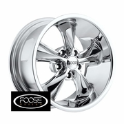 "17x9"" Foose Classics F105 Legend Chrome Wheels Rims 5x4.75"" lug pattern +07 mm offset 5.25"" backspace"