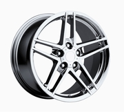 "18x9.5"" Chrome 2006 Corvette Z06 Replica Wheels Rims for C4 1984-1987 and C6 Front"