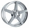 "17x9.5"" Chrome 2005 Corvette Replica Wheels Rims for C4 1984-1987"