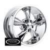 "17x8"" Foose Classics F105 Legend Chrome Wheels Rims 5x4.75"" lug pattern +01 mm offset 4.50"" backspace"