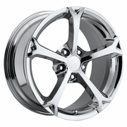 "18x8.5"" Chrome Corvette Grand Sport Replica Wheels Rims for Chevy Corvette C4 C5 and C6"