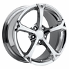 "17x8.5"" Chrome Corvette Grand Sport Replica Wheels Rims for Corvette C4 and C5"