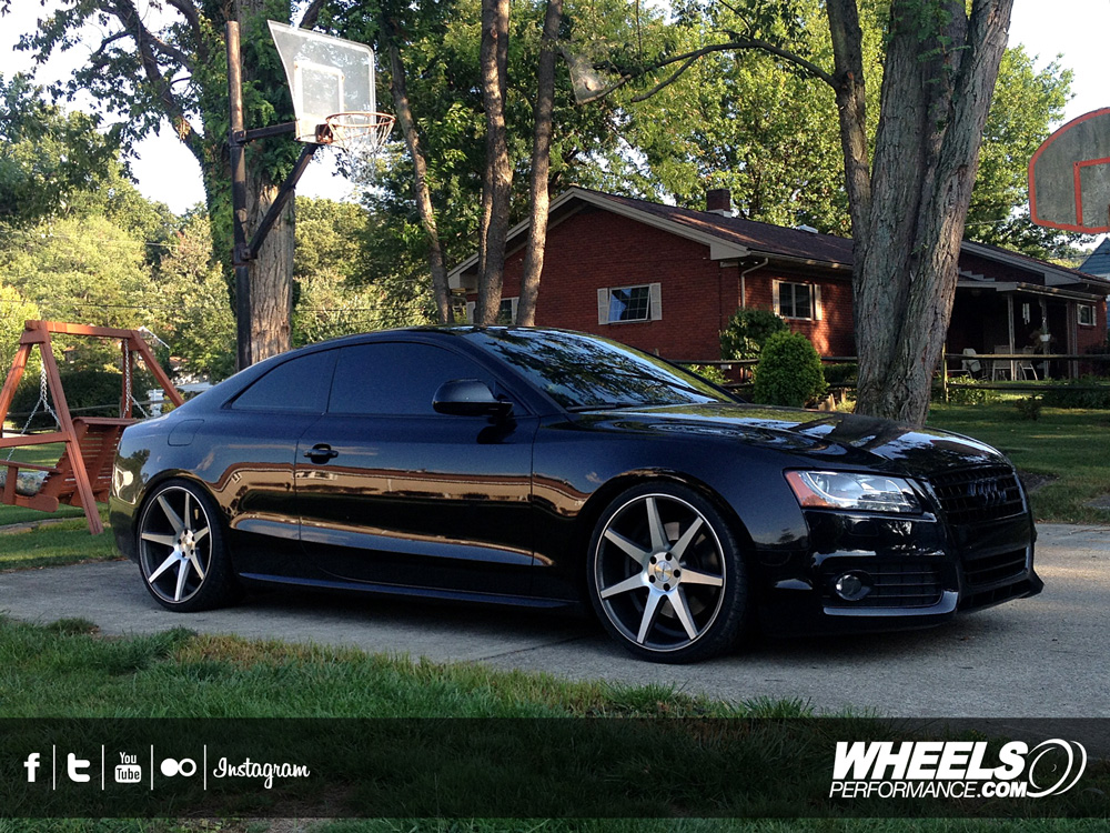 "OUR CLIENTS AUDI S5 WITH 20"" VOSSEN CV7 WHEELS"