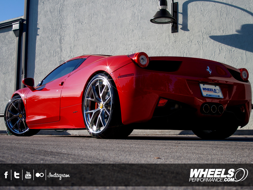 "OUR CLIENT'S FERRARI 458 SPIDER WITH 21/22"" HRE S101 WHEELS"