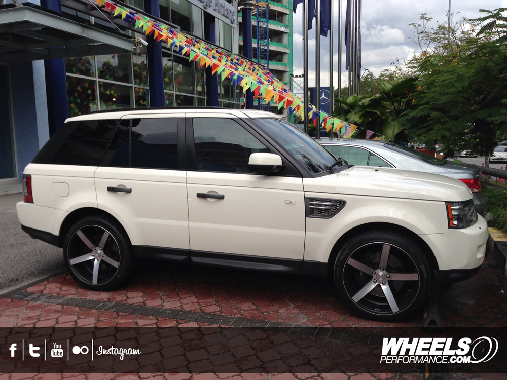 "OUR CLIENT'S RANGE ROVER SPORT WITH 22"" VOSSEN CV3 WHEELS"